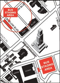 Bigelow Boulevard closure map
