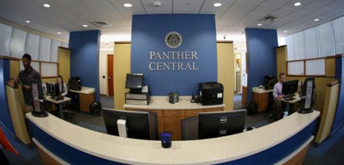 Panther Central office in Litchfield Towers main lobby
